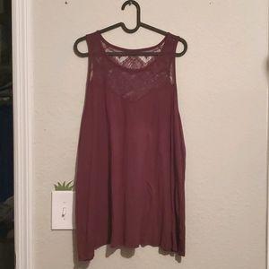 🌞3/$15 Torrid lace tank top